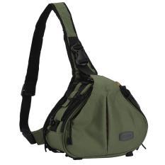 jiaxiang Army Green Waterproof Crossbody Single Shoulder Nylon Bag for Camera Canon 600D D600 7D 5D2 60D and Nikon D90 D60 D700 D7000