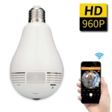 Beli Jingle 360 Derajat Panorama 960 P Tersembunyi Wi Fi Kamera Light Bulb Mini Keamanan Ip Kamera Online