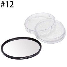Jingle 37-77 Mm Sinar UV Ultra Violet Filter Pelindung Lensa untuk Kamera Canon DSLR/SLR/DC/DV (Ukuran: 77 Mm)
