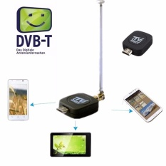 Jingle TV Tuner Receiver Digital DVB-T + Antena Micro USB untuk Android 4.0-6.0