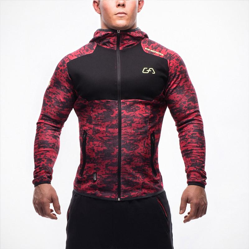 Harga Jirouxiongdi Musim Dingin Baru Pria Kebugaran Pakaian Workout Kaos Sweater Kamuflase Merah Oem Baru