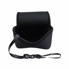 JJC Neoprene Kompak Tanpa Cermin Tas Tas Kamera (Lembut Kantong Kamera atau Aksesoris) to Canon EOS M M2 M3 M6 M10 M100 + 18-55 Mm atau 15-45 Mm atau 11-22 Mm Lensa-Medium (Hingga 113X69X112 Mm)