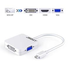 Jmday 3 Dalam 1 Mini DP DisplayPort/Thunderbolt Ke VGA HDMI Dvi Adaptor Konverter Kabel dengan Penuh HD video dan Audio untuk Apple Mac/Microsoft Permukaan Pro/Lenovo/Dell/Ponsel/Acer/Asus /Google/Toshiba Buah-Internasional