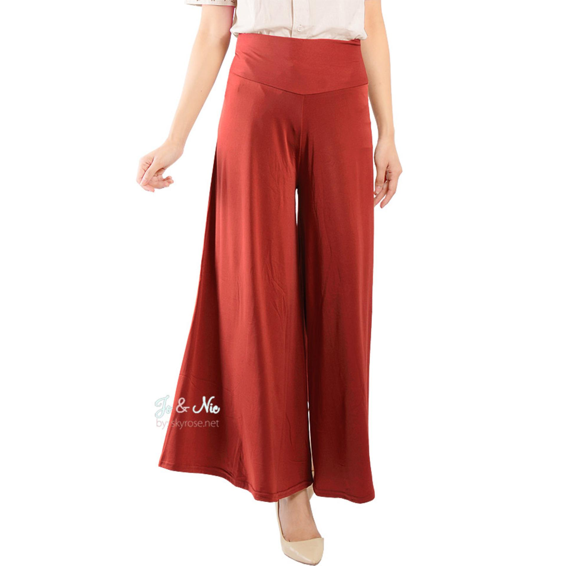 Jo Nic Wide Bottom Pants Kulot Wanita Fit To Big Size Brick Jo Nic Diskon 30