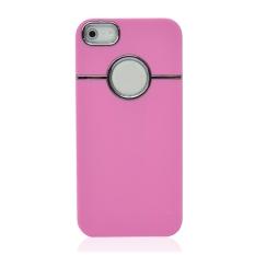 Jo. Di Chrome Hollow Protective Shell untuk IPhone5 (Pink)