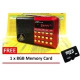 Berapa Harga Joc Radio Rechargeable Usb Dan Microsd 8 Gb Slot Mini Digital Mp3 Player Fm H033Ur Merah Di Tiongkok