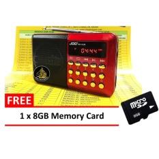Harga Joc Radio Rechargeable Usb Dan Microsd 8 Gb Slot Mini Digital Mp3 Player Fm H033Ur Merah Yang Murah