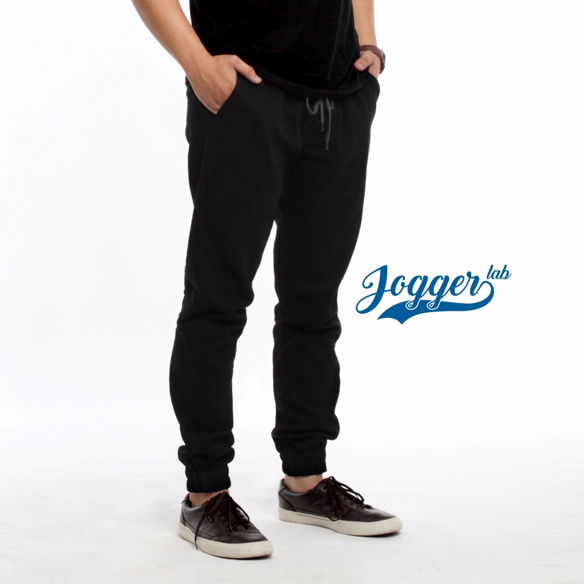 Beli Jogger Lab Jogger Jeans Full Black Murah Di Indonesia