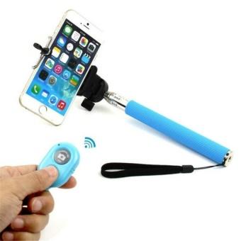 JOR Fashion Tongkat Selfie Portabel Dapat Diperpanjang untuk Kamera Ponsel dengan Bluetooth Phone Aksesori-Intl