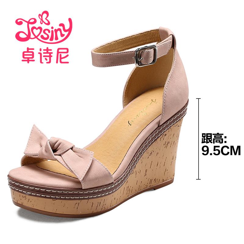 Josiny Hak Tinggi Jepang Angin Manis Kata Gesper Sepatu Wanita Sandal (Merah