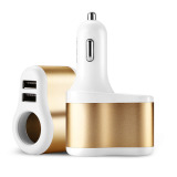 Spesifikasi Joyroom C M305 3 1A Dual Usb Car Charger With Car Cigarette Lighter Gold Baru
