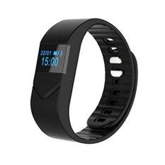 JTS ARLOJI Pintar Monitor Detak Jantung Bluetooth Gelang Gelang M5Swith Pelacak Kebugaran Monitor Tidur untuk IPhone Smart Phone (HITAM) -Intl