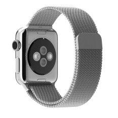 Beli Jts Milan Stainless Steel Sepenuhnya Tutup Magnet Penjepit Gelang Jala Lingkaran Logam Tali Pita To Apple Watch Semua Model 42Mm Silver Cicilan