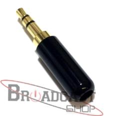Jual Connector Jack 3.5Mm Stereo Audio (Black ) Original Ace-141