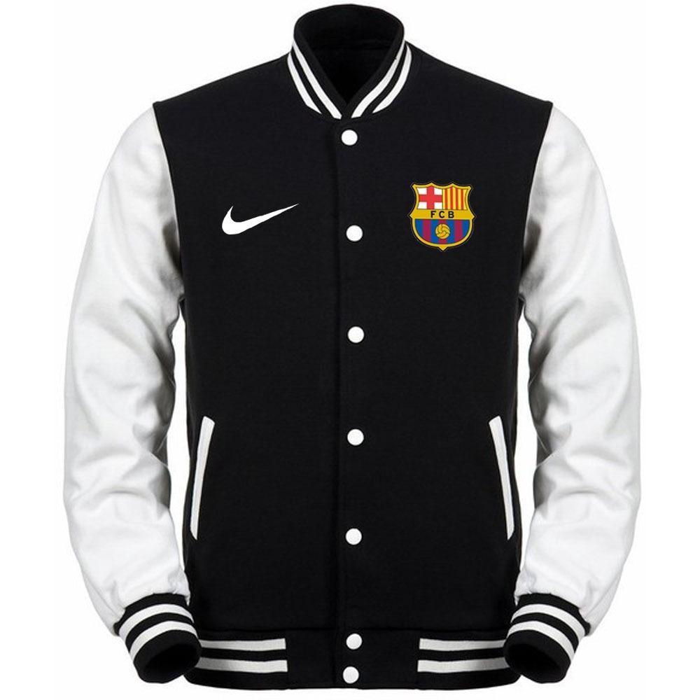 Just Cloth Jaket Varsity Baseball Barcelona La Blaugrana