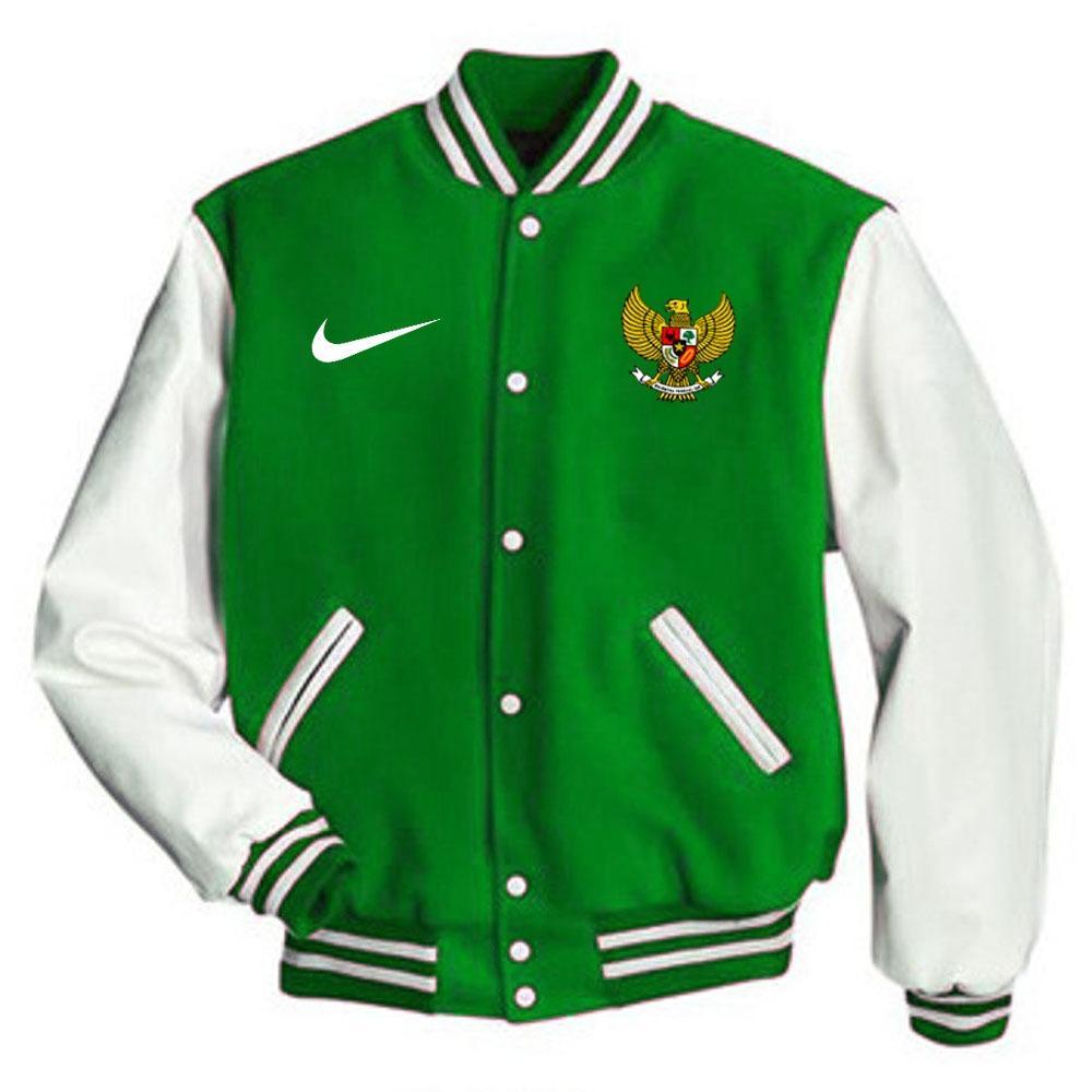 Just Cloth Jaket Varsity Baseball Timnas Indonesia