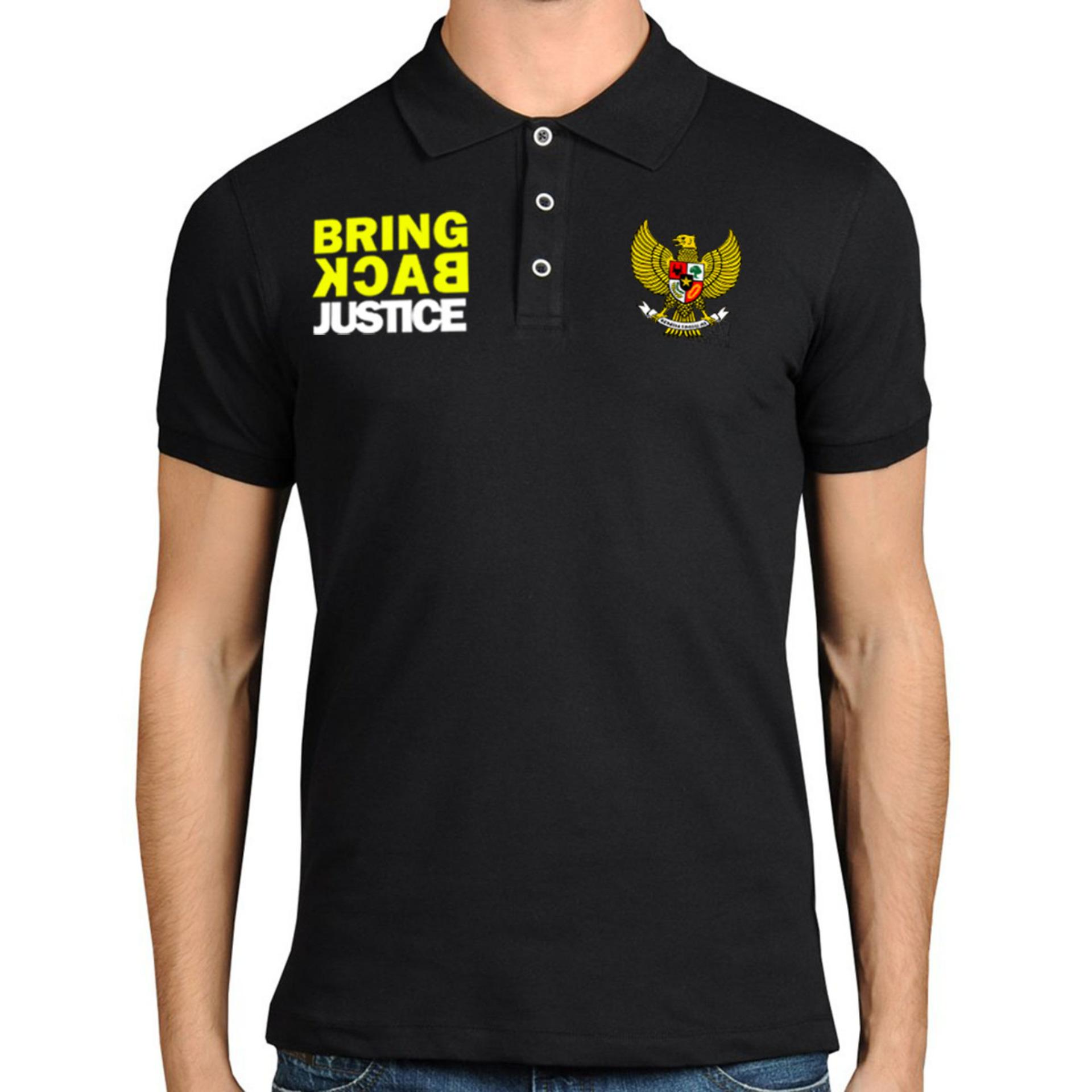 Beli Just Cloth Kaos Polo Bring Back Justice Hitam Just Cloth Online