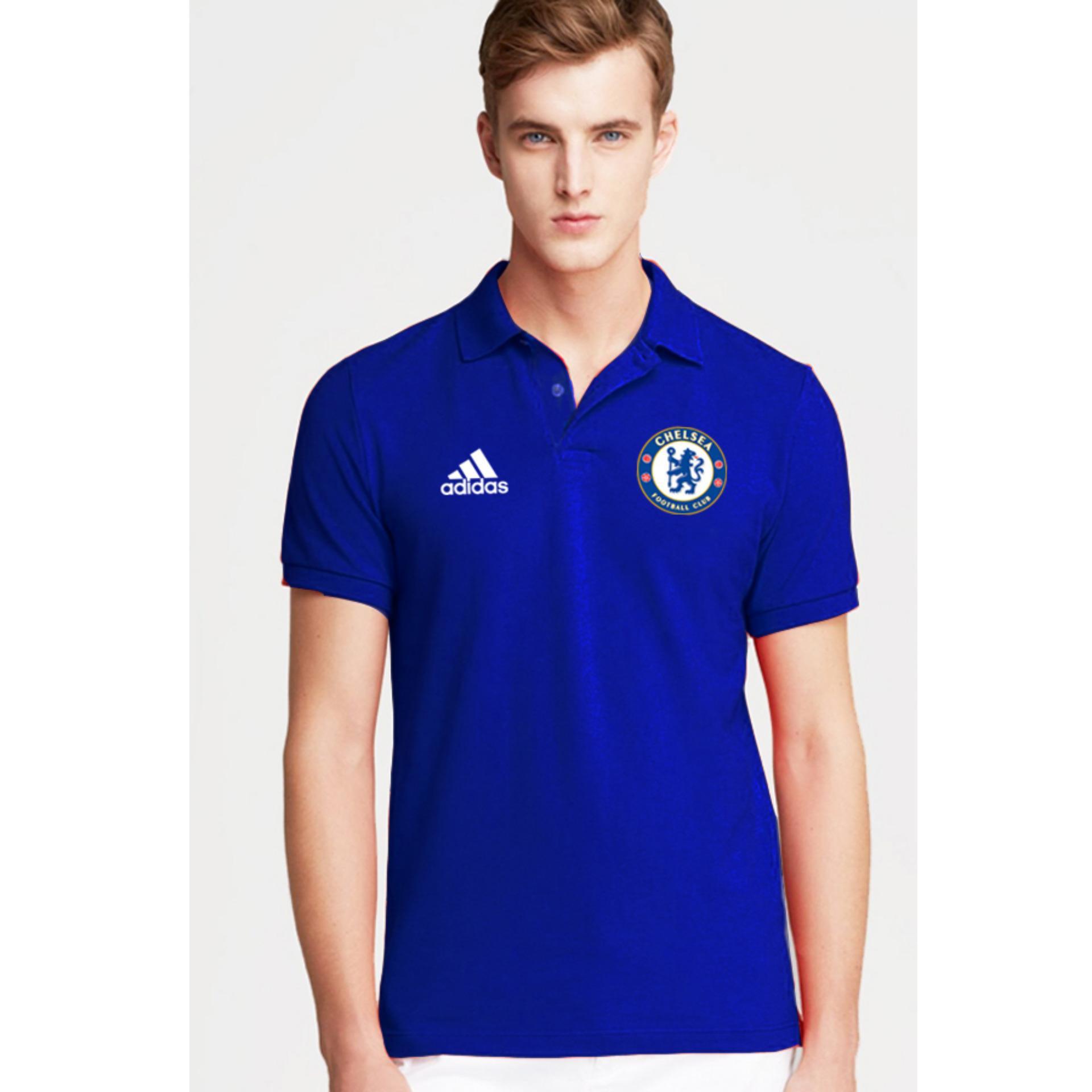 Just Cloth Kaos Polo Chelsea A-033 - Biru