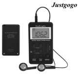 Spesifikasi Justgogo Mini Am Fm 2 Band Stereo Pocket Radio Receiver W Lcd Display Earphone Intl Terbaru
