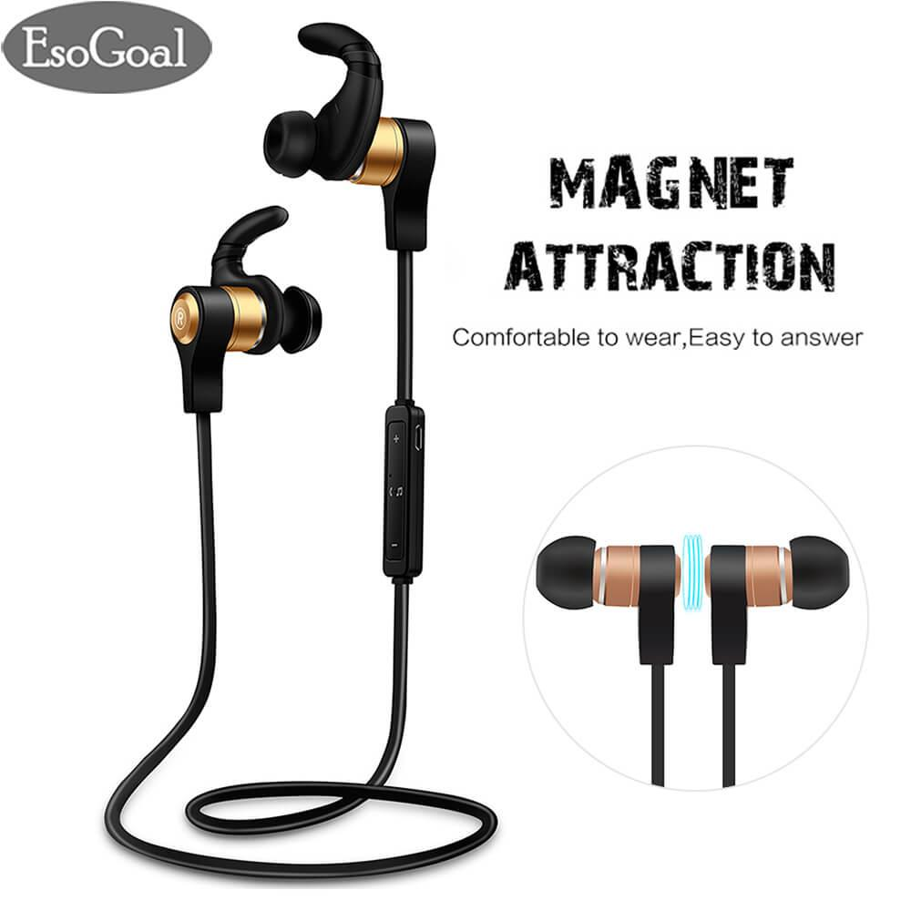 Jual Jvgood Bluetooth Headphones Magnet Attraction Noise Cancelling Sport In Ear Wireless Bluetooth Headphones Earphones With Mic Tiongkok