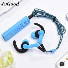Beli Jvgood Bluetooth Headphone Nirkabel Olahraga Earphone With Mic Hd Stereo Sweatproof Mikrofon Gym Menjalankan Latihan Olahraga Kebisingan Membatalkan Pakai Kartu Kredit