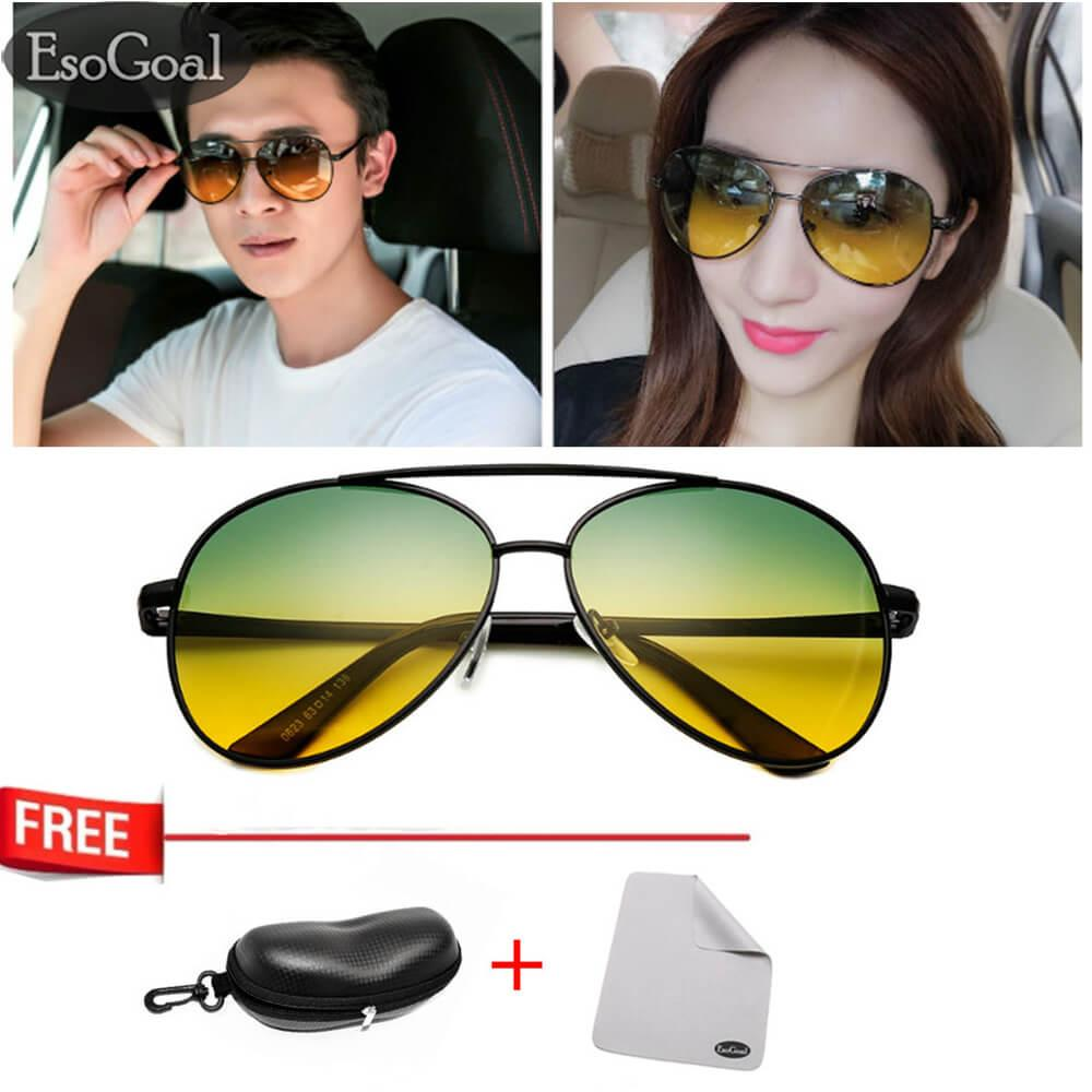 Beli Jvgood Day Night Vision Sunglasses Glasses Anti Glare Driving Eyewear Polarized Lens Unisex Aviator Glasses Online Murah