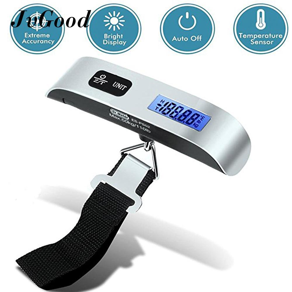 Promo Toko Jvgood Digital Hanging Postal Luggage Scale Suhu Sensor 110Lb 50 Kg Silver