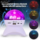 Toko Jvgood Disco Dj Bluetooth Speakers Rotating Led Strobe Bulb 6 Changing Multi Color Crystal Stage Light Wireless Speaker For Party Dance Christmas Black Murah Di Tiongkok
