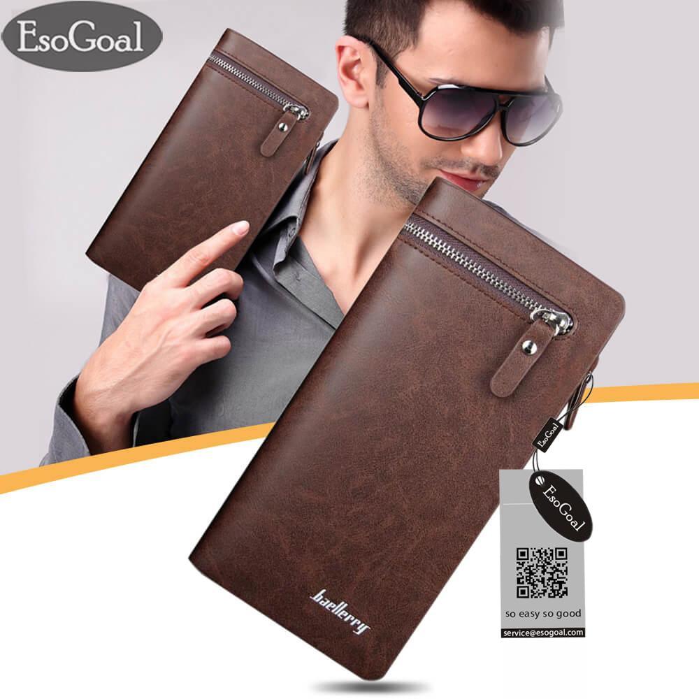 Beli Jvgood Dompet Kulit Panjang Pria Bifold Bisnis Premium Clutch Wallet Murah