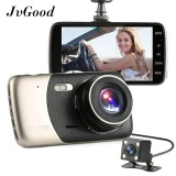 Jvgood Dual Lens Dash Cam Kamera Mobil Perekam Full Hd 1080 P Front 720 P Rear Lens 170 120 Super Wide Angle Car Dvr Dashboard Camera With 4 Layar G Sensor Motion Detection Mode Parkir Penglihatan Malam Perekaman Loop Terbaru