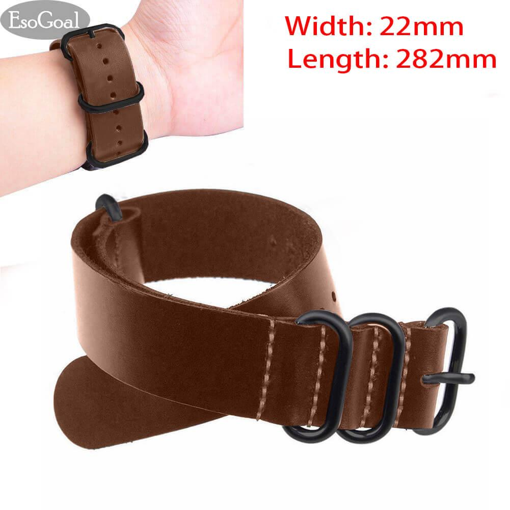 Diskon Jvgood Genuine Leather Watch Bands Watchband Straps Width 22Mm Length 282Mm Jvgood Di Tiongkok
