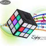 Diskon Produk Jvgood Magic Rubik S Cube Portable Led Rgb Light Deep Bass Bluetooth 4 Wireless Speakers