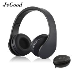 JvGood Over-ear Bluetooth Headphone, Foldable Nirkabel Bluetooth Stereo Headset Wired headphone Earphone dengan Hands Free Call Bekerja dengan Mikrofon Semua 3.5mm Perangkat Musik dan Ponsel dengan Earphone Case Kotak