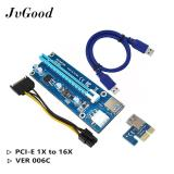 Beli Jvgood Pcie Ver 006 Pci E 16X For 1X Powered Riser Kartu Adaptor W 60 Cm Usb 3 Kabel Ekstensi Molex Ke Kabel Sata Gpu Riser Adaptor Ethereum Mining Eth 2 Mintcell Cable Ties Online Tiongkok