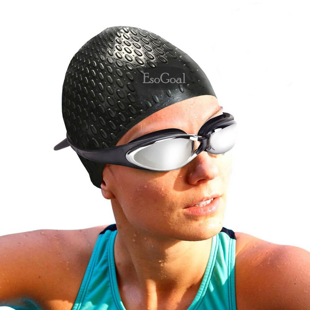 JvGood Renang Topi Berenang Tahan Air Silikon Hat Silicone Long Hair Swim  Cap Waterproof Swimming Cap Hat Unisex for Adult Kids Woman and Men 450f7d900c