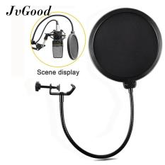 Review Jvgood Studio Mikrofon Pop Filter Round Bentuk Mic Angin Masker Shield Screen Dengan Stand Klip Jvgood