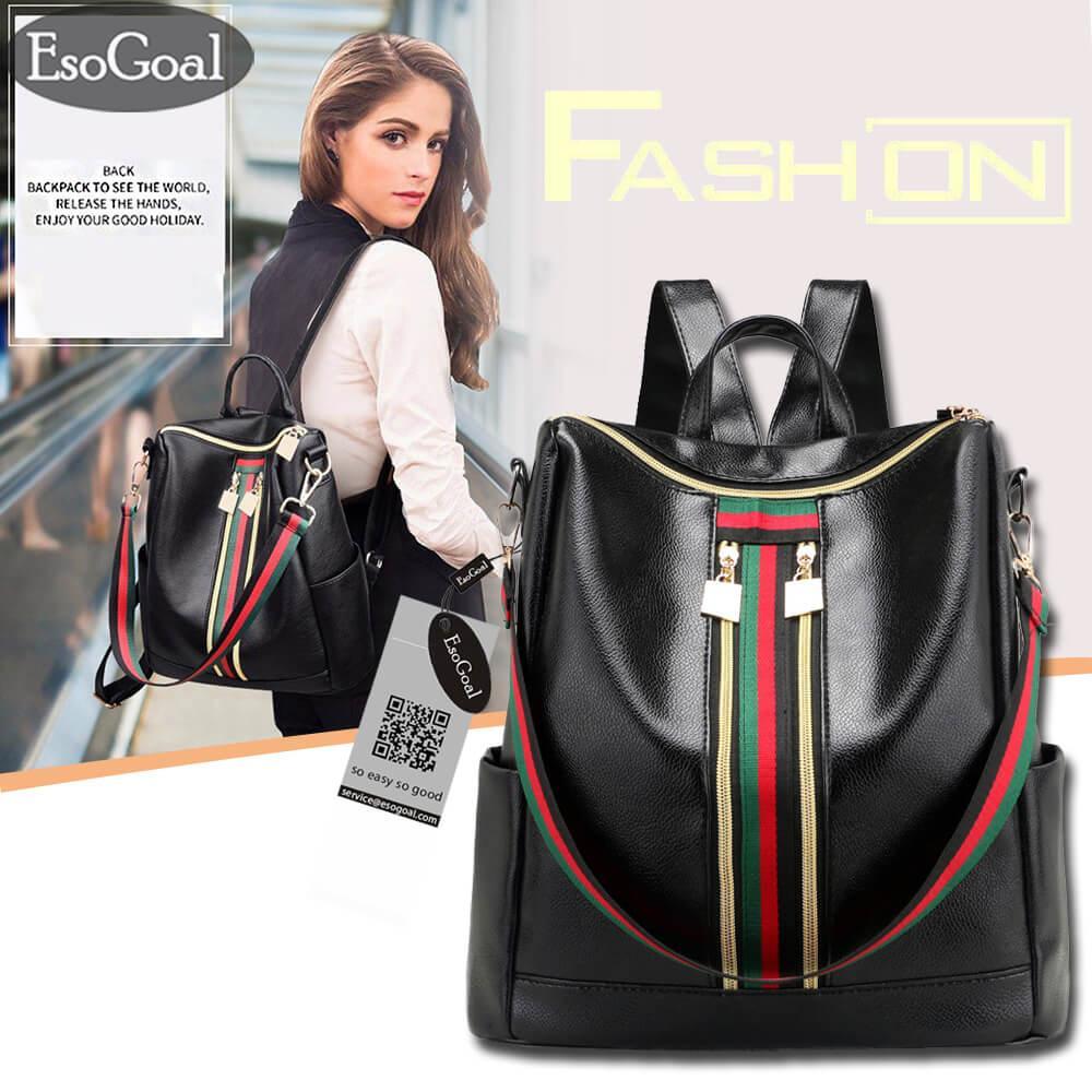 Toko Jvgood Tas Ransel Wanita Backpack Tas Selempang Bahu Wanita Tas Punggung Fashion Pu Leather Backpack Tas Fashion Lengkap