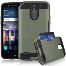 Jwest LG Stylo 3 Case, LG Stylo 3 Plus Case, Kasus LG Stylus 3, Dompet Case Dual Layer Kredit Pemegang Kartu Hybrid Pelindung Cover untuk LG Stylus 3 Plus/Stylus 3/G Stylo 3-Intl