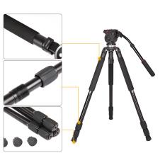 JY0509A Aluminium Alloy DSLR Fotografi Kamera Camcorder Video Tripod dengan Kepala Tarik Cairan Padded Bag