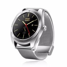 K89 Smart Watch Semua Bulat Layar Tangan Elektronik Dynamic HR Pemantauan Smart Watch Stainless Steel (Perak)