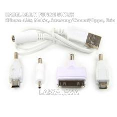 Kabel 4 In 1 Multi Charger Untuk: iPhone 4/4S, Nokia, Samsung / Xiaomi / Oppo, Esia