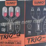 Beli Kabel Charger Sumo Trio Q Sc 368 3 In 1 Micro Type C Ios Online Murah