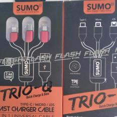 Ongkos Kirim Kabel Charger Sumo Trio Q Sc 368 3 In 1 Micro Type C Ios Di Indonesia