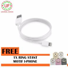 Kabel Data dan Charger Lightning USB Cable For Iphone 5/5s/6/6s/6 plus - Free Ring stant Motif Apple