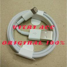 Kabel Data Lightning Usb Charger Ipad Ipod Iphone 5 5S 6 6S Ori Cable - 7Cb6ab