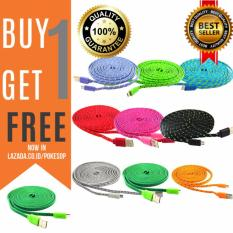 Kabel Data Tali Sepatu Micro USB 3 Meter cable data android Promosi Gratis  Buy 1 Get 1 Free / Beli 1 Gratis 1