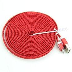 Kabel Data Tali Sepatu Micro Usb 3 Meter - Merah By Askhev Store.
