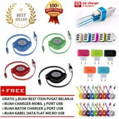 Toko Kabel Data Tarik Full Colour Micro Usb Multicolour Gratis 1 Buah Kabel Data Flat Micro Usb 1 Buah Batok Charger 3 Port Usb 1 Buah Charger Mobil 3 Port Usb Terdekat