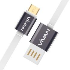 Jual Kabel Data Vivan Xm100 1M Micro Usb Untuk Android Putih Grosir