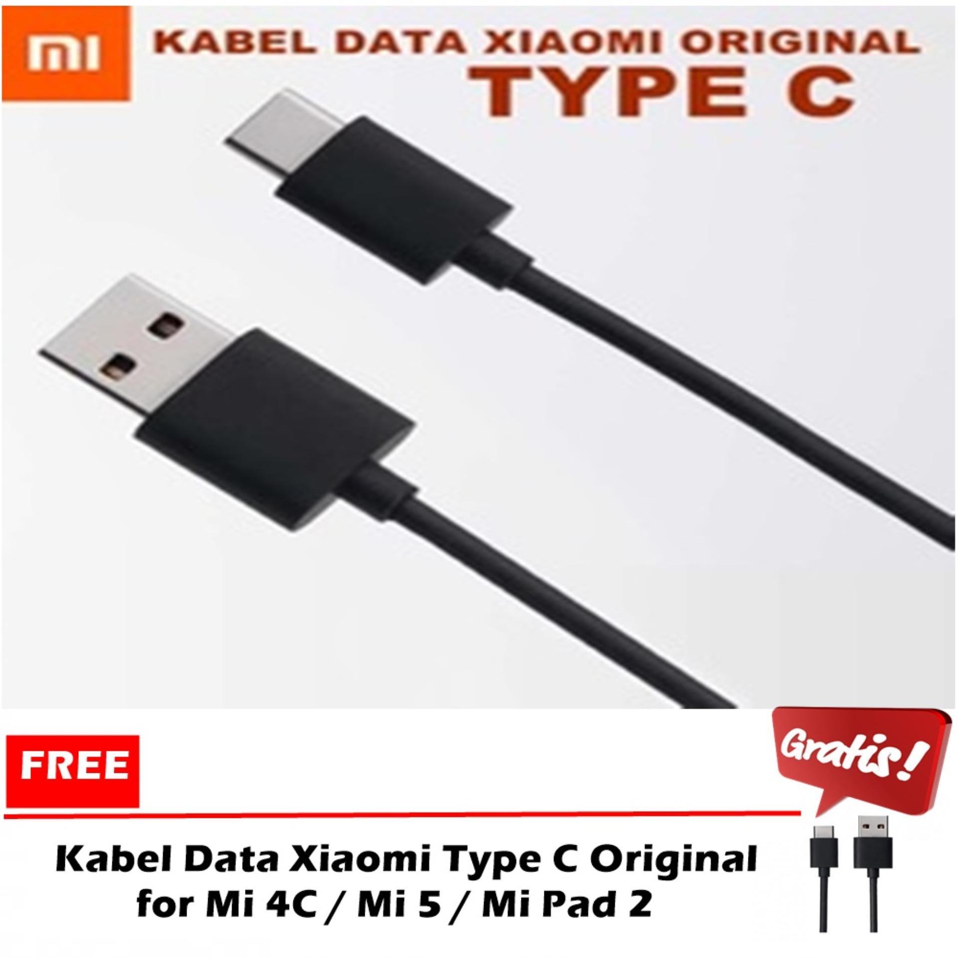 ... Kabel Data Xiaomi Type C Original for Mi 4C Mi 5 Mi Pad 2